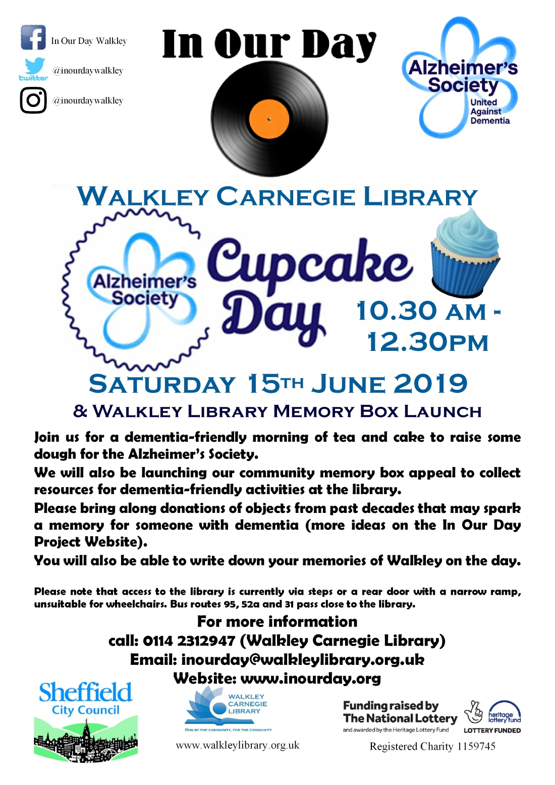 Cupcake day 15th June 2019 poster