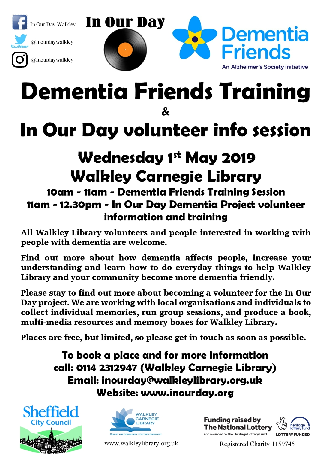 Dementia Friends Training 1st May 2019